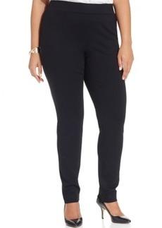 Inc International Concepts Plus Size Straight-Leg Pull-On Pants