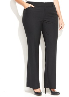 INC International Concepts Plus Size Straight-Leg Trousers