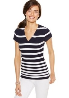 Inc International Concepts Plus Size Striped Knit Top