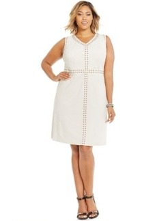 Inc International Concepts Plus Size Studded Sheath Dress, Only at Macy's