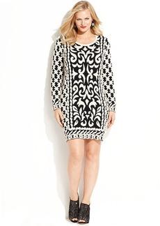 INC International Concepts Plus Size Textured Sweater Dress