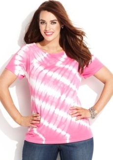 INC International Concepts Plus Size Tie-Dye Tee