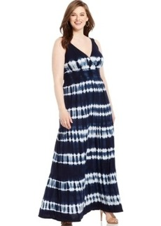 INC International Concepts Plus Size Tie-Dyed Maxi Dress