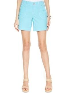 Inc International Concepts Plus Size Twill Cuffed Utility Shorts