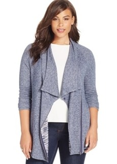 Inc International Concepts Plus Size Zip-Front Cardigan Sweater
