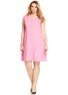 Inc International Concepts Plus Size Zip-Front Sleeveless Dress, Only at Macy's