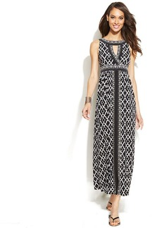 INC International Concepts Printed Halter Maxi Dress