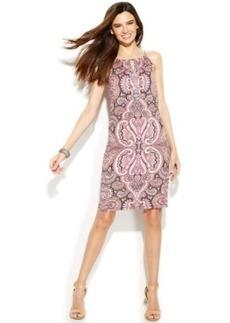INC International Concepts Printed Halter Sheath Dress