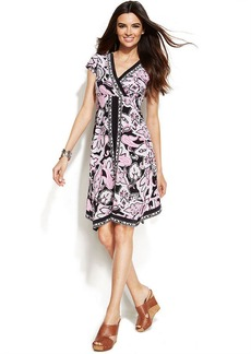 INC International Concepts Printed Handkerchief-Hem Dress