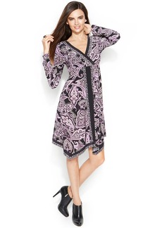 INC International Concepts Printed Handkerchief-Hem Dress