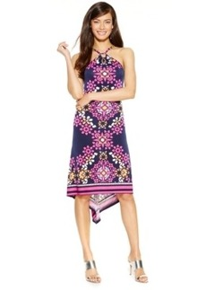 Inc International Concepts Printed High-Low Halter Dress