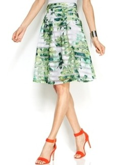 INC International Concepts Printed Illusion A-Line Skirt