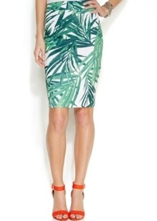 INC International Concepts Printed Pencil Skirt