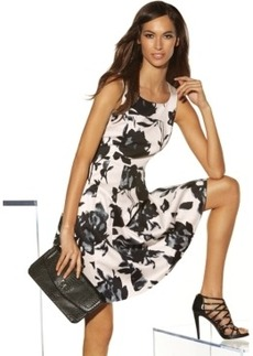 INC International Concepts Printed Pleated Flare Dress