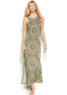 INC International Concepts Petite Printed Racerback Maxi Dress