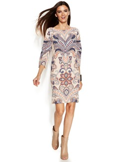 INC International Concepts Printed Shift Dress
