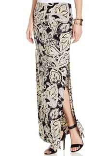 INC International Concepts Printed Side-Slit Maxi Skirt