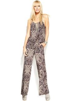 INC International Concepts Printed Sleeveless Embellished Jumpsuit