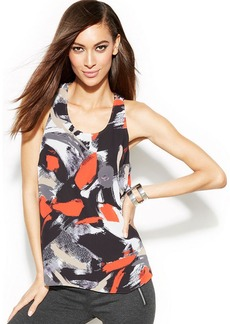 INC International Concepts Printed Sleeveless Top