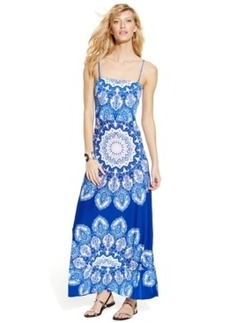 INC International Concepts Printed Spaghetti-Strap Maxi Dress
