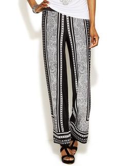 INC International Concepts Petite Printed Wide-Leg Soft Pants