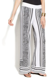 INC International Concepts Printed Wide-Leg Soft Pants