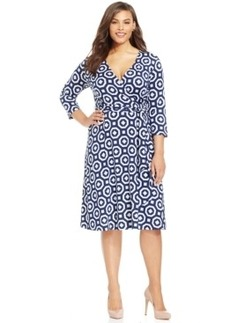 Inc International Concepts Printed Wrap Dress