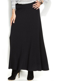 INC International Concepts Pull-On Ribbed-Knit Maxi Skirt