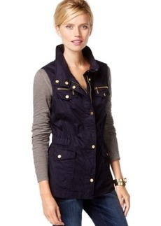 Inc International Concepts Removable-Puffer Anorak Vest, Only at Macy's