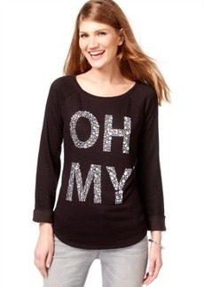 Inc International Concepts Rhinestone Oh My Sweatshirt, Only at Macy's