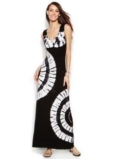 INC International Concepts Rhinestone-Trim Tie-Dye Maxi Dress