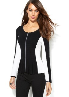 INC International Concepts Ribbed Colorblock Cardigan