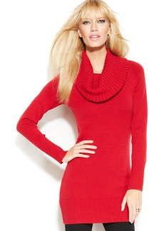 INC International Concepts Ribbed-Knit Cowl-Neck Sweater
