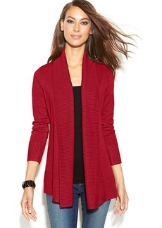 INC International Concepts Ribbed-Knit Open-Front Cardigan