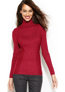 INC International Concepts Ribbed-Knit Turtleneck Sweater