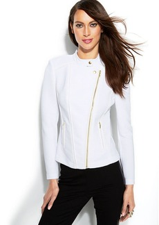 INC International Concepts Petite Ribbed Moto Jacket