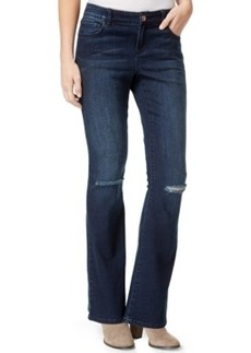 Inc International Concepts Ripped Bootcut Jeans, Mid-Indigo Wash, Only at Macy's