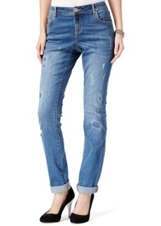Inc International Concepts Ripped Boyfriend Jeans, Mid-Indigo Wash, Only at Macy's