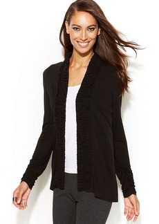 INC International Concepts Ruched Open-Front Cardigan
