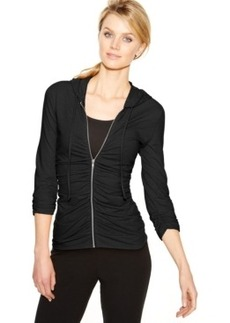 Inc International Concepts Ruched Zip-Front Hoodie