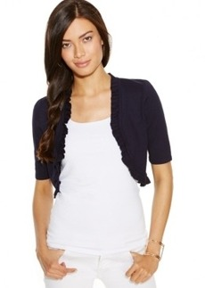INC International Concepts Ruffled Bolero Sweater