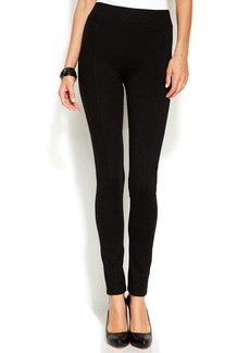 INC International Concepts Skinny-Leg Seamed Pull-On Ponte Pants