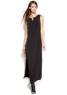 INC International Concepts Petite Sleeveless Drawstring Maxi Dress