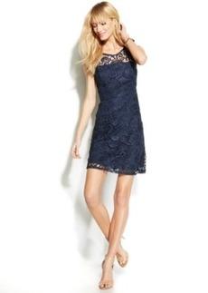 INC International Concepts Sleeveless Illusion Lace Sheath Dress