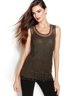 INC International Concepts Sleeveless Lace Top