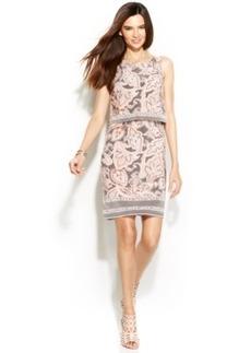 INC International Concepts Sleeveless Paisley-Print Popover Dress