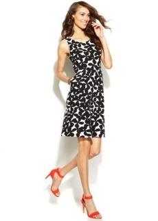 INC International Concepts Sleeveless Pocketed Floral-Print Dress