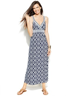 INC International Concepts Petite Sleeveless Printed Maxi Dress