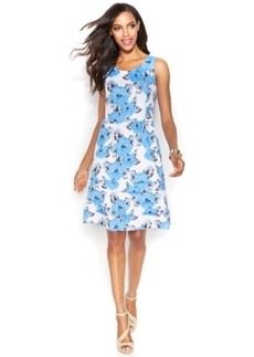 INC International Concepts Sleeveless Printed Tiered Flare Dress