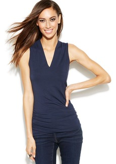 INC International Concepts Sleeveless Ruched-Side Top